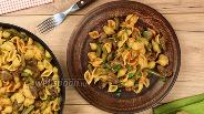 Фото рецепта Макароны с сердечками и стручковой фасолью