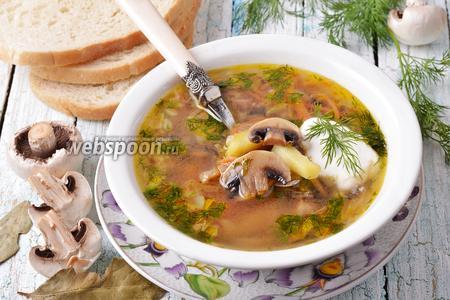 Суп из замороженных шампиньонов