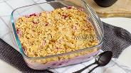 Фото рецепта Торт без выпечки из печенья и творога со смородиной
