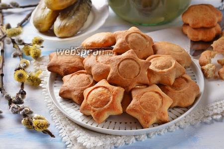 Постное печенье с солёными огурцами