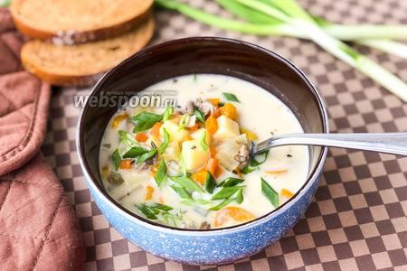 Суп из вёшенок с льезоном