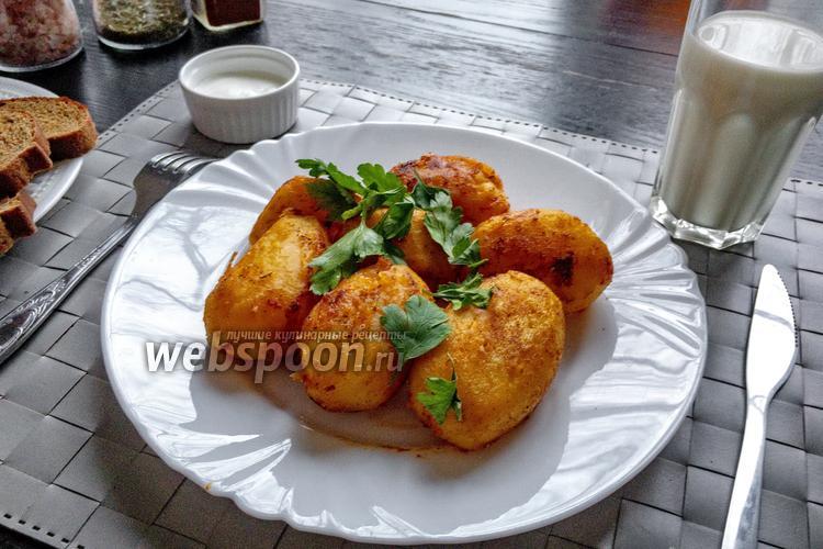Фото Варено-жареная молодая картошка со специями