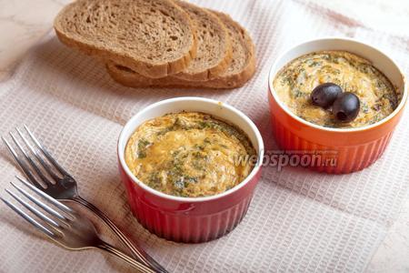 Фриттата с грибами и сыром