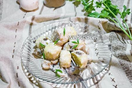Ньокки в сливочном соусе с грибами