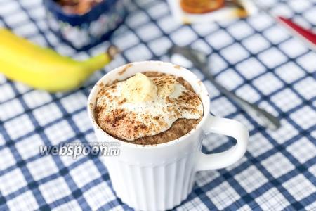 Кекс в кружке с бананом без сахара