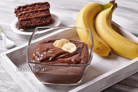 Постный банановый крем