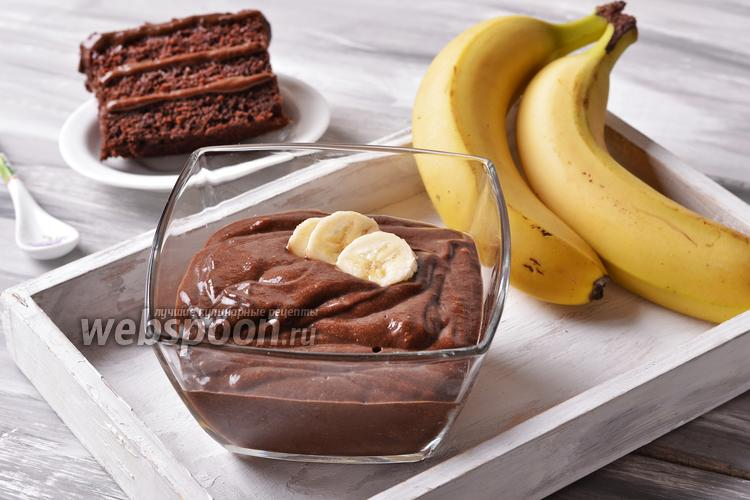 Фото Постный банановый крем
