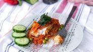 Фото рецепта Треска тушёная с овощами