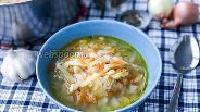Фото рецепта Луковый суп с капустой