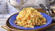 Фото рецепта Лапша с белой капустой