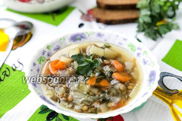 Фото Суп из чечевицы с овощами