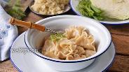 Фото рецепта Вареники с тушёной капустой