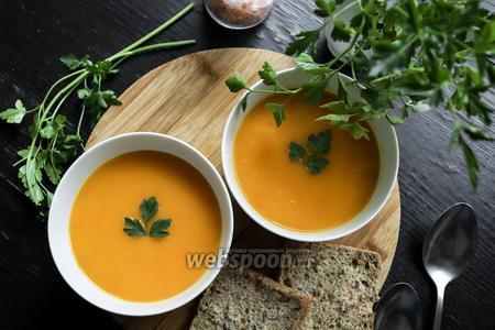 Постный тыквенно-картофельный суп-пюре с сельдереем