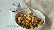 Фото рецепта Гречка с индейкой и зелёным луком