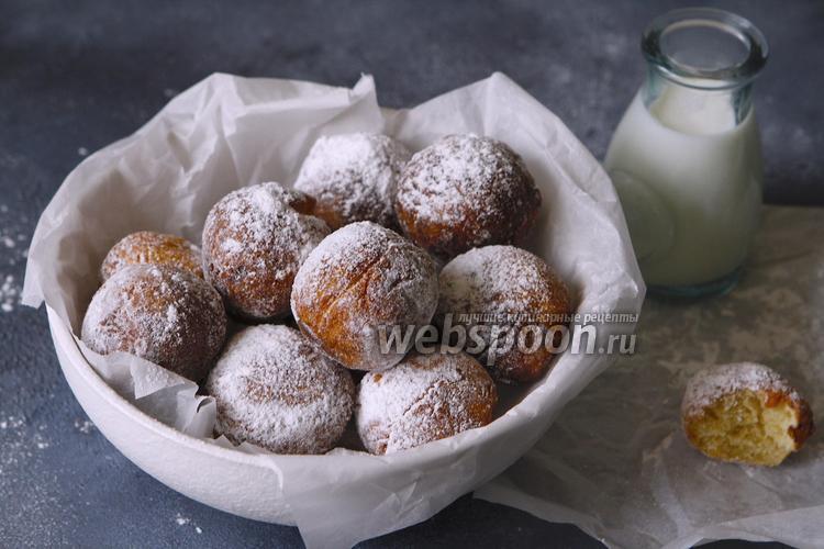 Фото Творожные пончики на миндальной муке