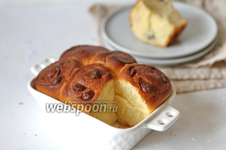 Фото Дрожжевые булочки с белым и молочным шоколадом