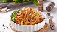 Фото рецепта Салат с печенью свиной и морковью