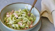 Фото рецепта Паста тальятелле с форелью в сливочном соусе