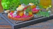 Фото рецепта Сморреброд с сельдью