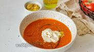 Фото рецепта Томатный суп со Страчателлой