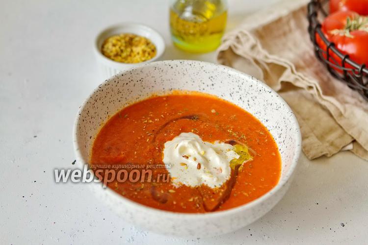 Фото Томатный суп со Страчателлой