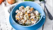 Фото рецепта Гречка с курицей и капустой