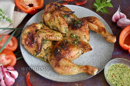 Цыплёнок табака в духовке с корочкой