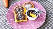 Фото рецепта Сырники с морковью и цитрусовым соусом