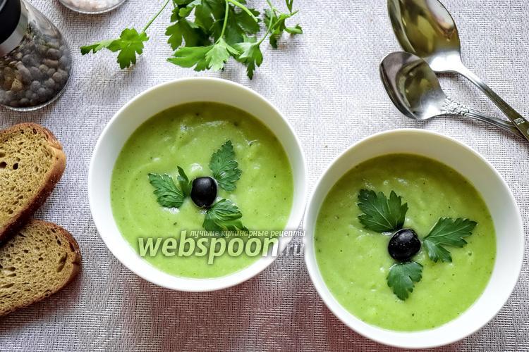 Фото Суп-пюре из брокколи с маслинами