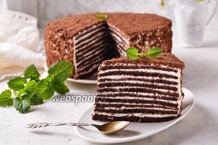 Фото рецепта Быстрый торт «Спартак»