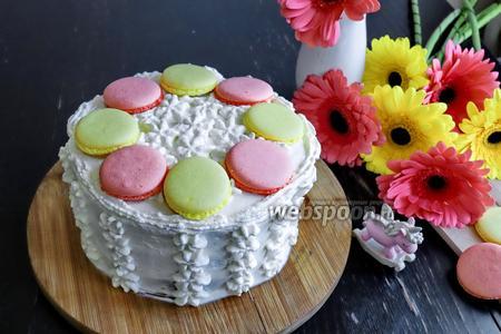 Бисквитный торт из кокосовой муки с крем-чизом