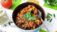 Фото рецепта Фасоль с грибами в томатном соусе