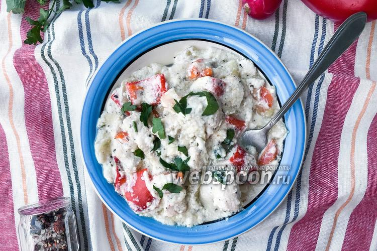 Фото Фрикасе из курицы с овощами