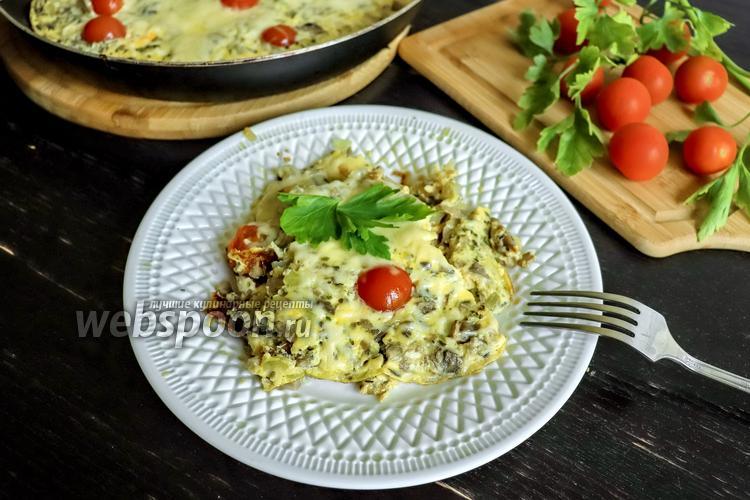 Фото Омлет с грибами и сыром