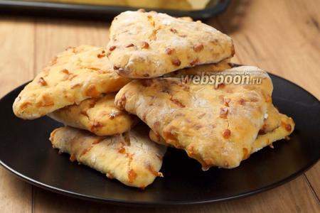 Лепёшки с сыром на кефире видео рецепт
