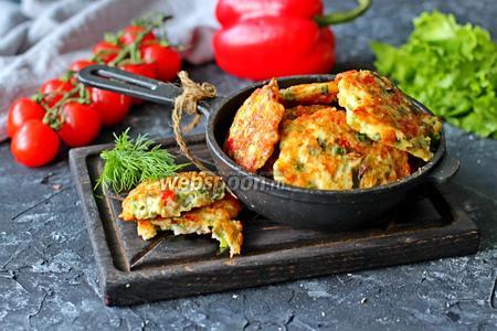 Рубленные котлеты с сыром и болгарским перцем