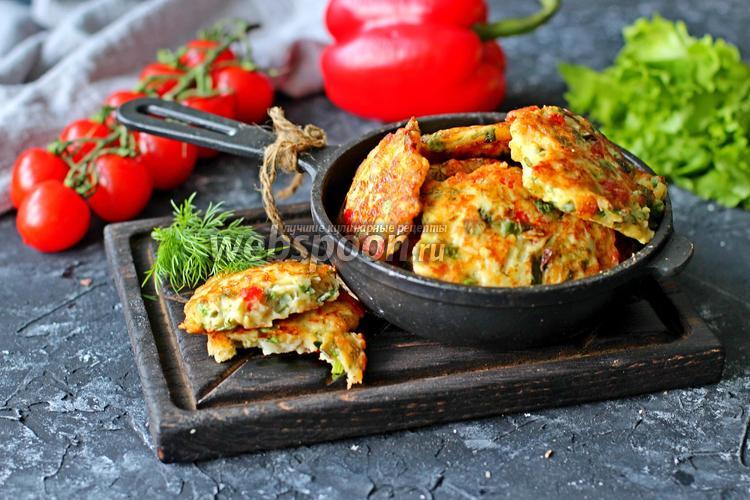 Фото Рубленые котлеты с сыром и болгарским перцем