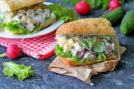 Сэндвич с куриным салатом