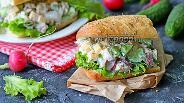 Фото рецепта Сэндвич с куриным салатом