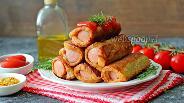 Фото рецепта Жаренные сосиски в хлебе