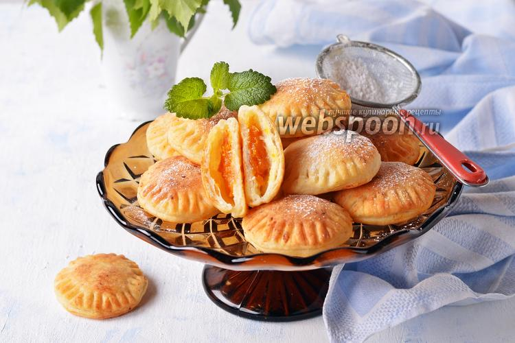 Фото Творожное печенье с курагой