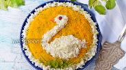 Фото рецепта Салат «Белый лебедь»