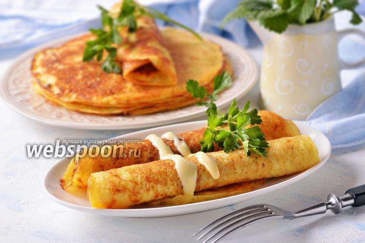 Фото Блины картофельно-сырные дрожжевые