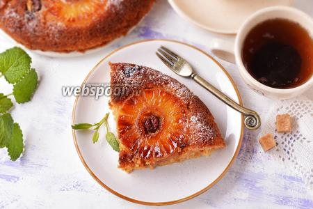 Пирог-перевёртыш с ананасами