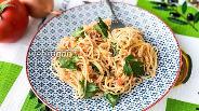 Фото рецепта Спагетти с яйцом и помидорами