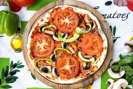 Фото рецепта Постная пицца на сковороде