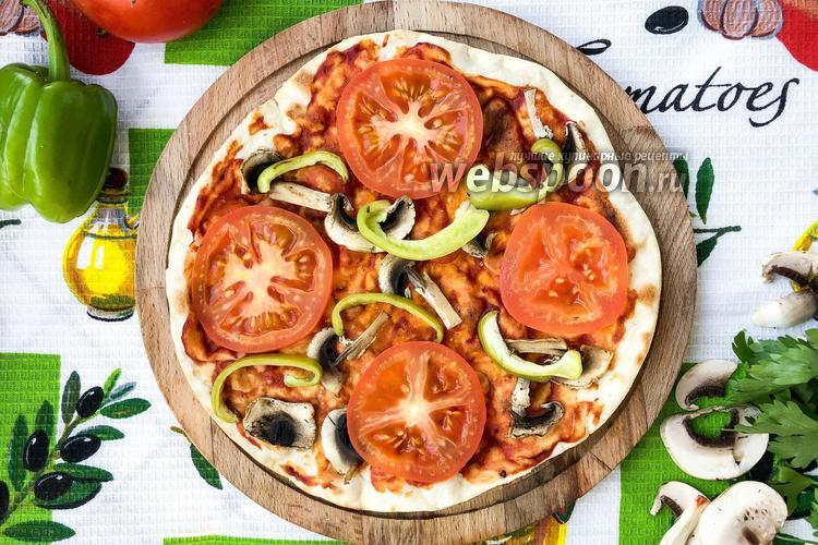 Фото Постная пицца на сковороде
