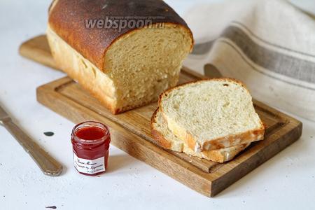 Белый хлеб для тостов на пшеничной закваске