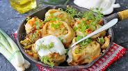 Фото рецепта Ленивые штрудели с капустой на сковороде