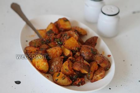 Фото рецепта Батата харра (пряный жареный картофель)